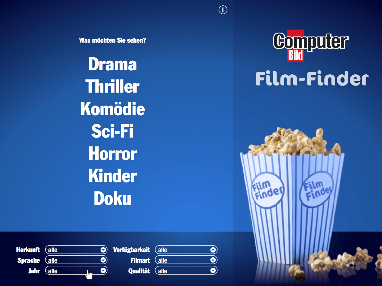 GUI für ComputerBILD Film-Finder