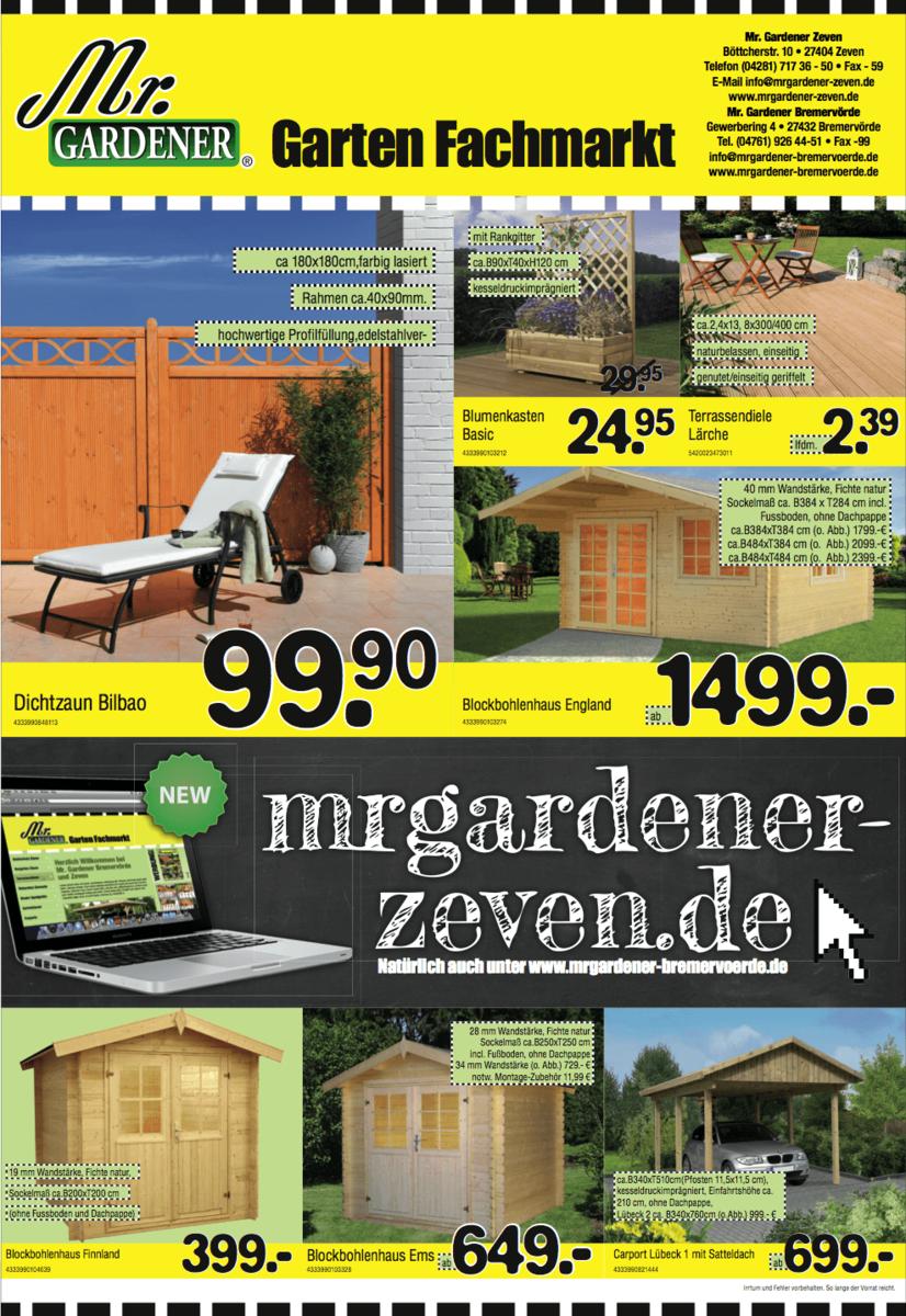 Design und Satz der neuen Mr. Gardener Printanzeigen