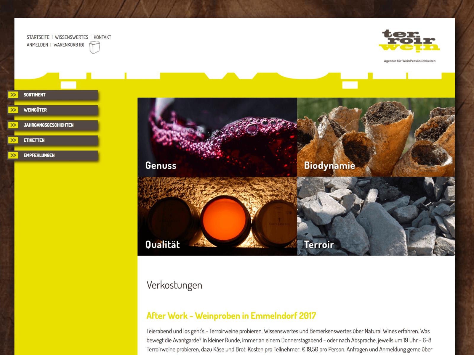 Magento-Weiterentwicklung Terroirwein