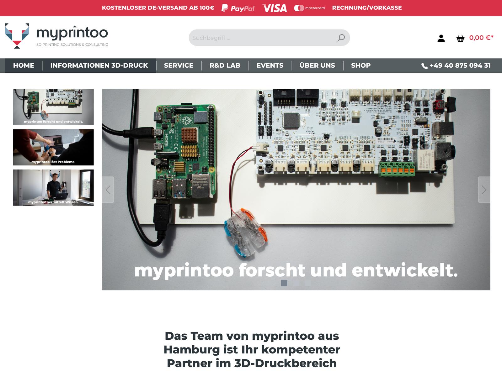 Shopware 6 Relaunch für Myprintoo GmbH