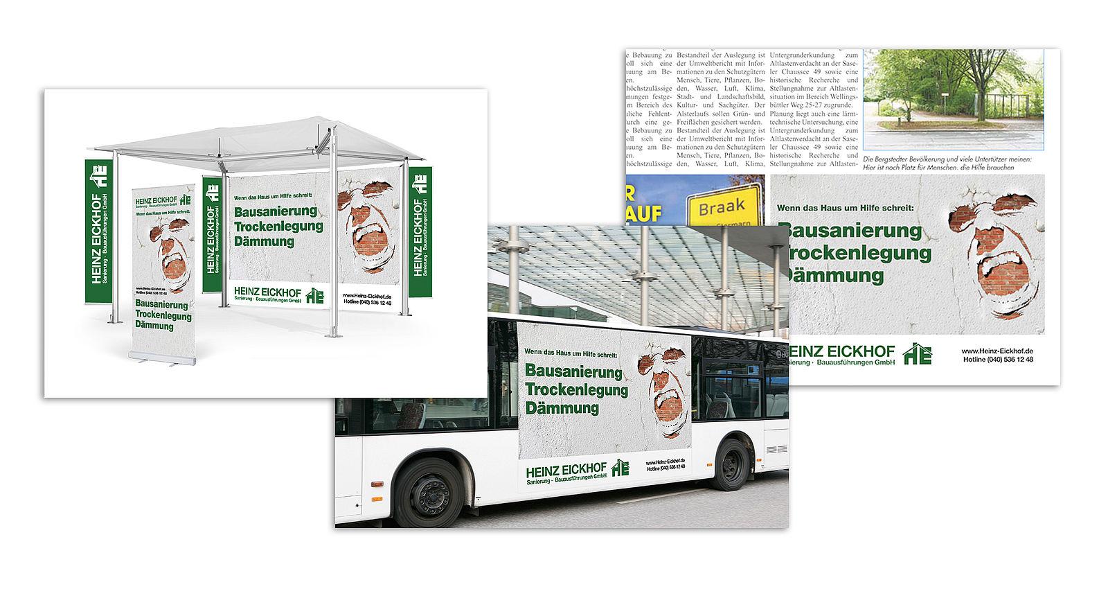 Key-Visual und crossmediale Kampagne für Heinz Eickhof