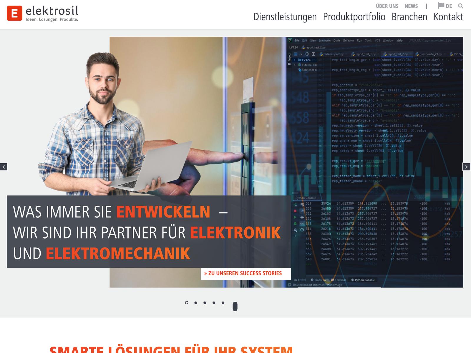 Soft-Relaunch Wordpress Elektrosil GmbH