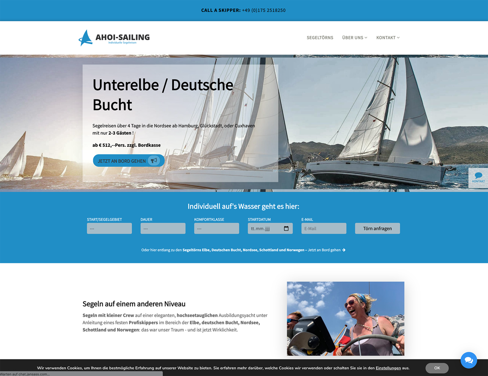 Strategie und Websites für Ahoi Sailing