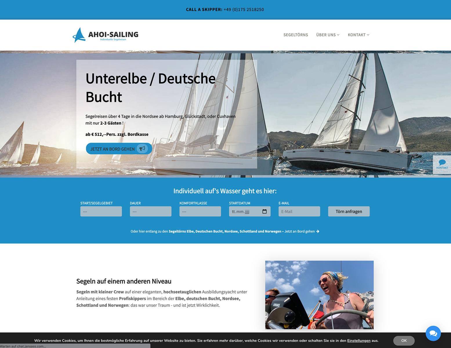 Strategie und Websites für Ahoi Sailing