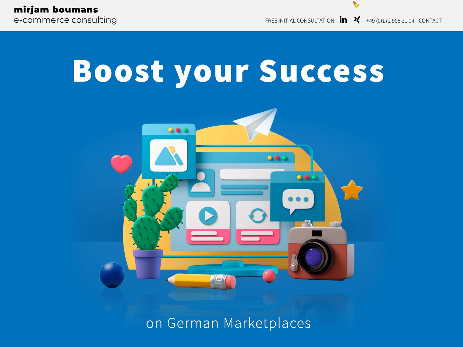 Wordpress-Webdesign für Mirjam Bouwmans