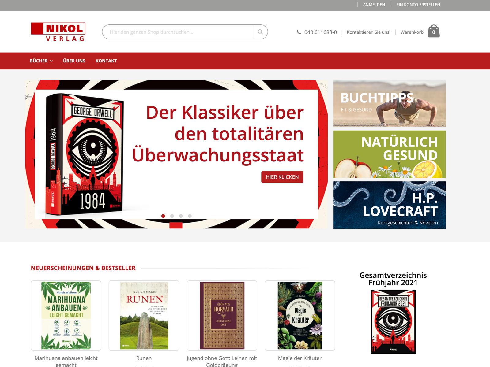 Tech-Support und Upgrades Magento Nikol Verlag