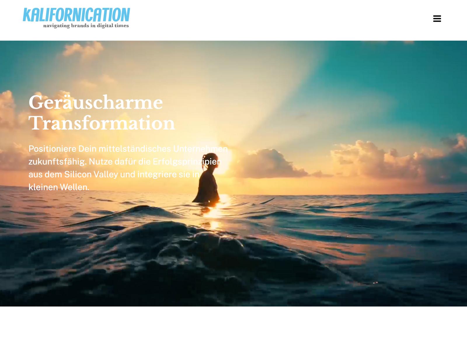 Onepager-Relaunch mit Wordpress für Kalifornication