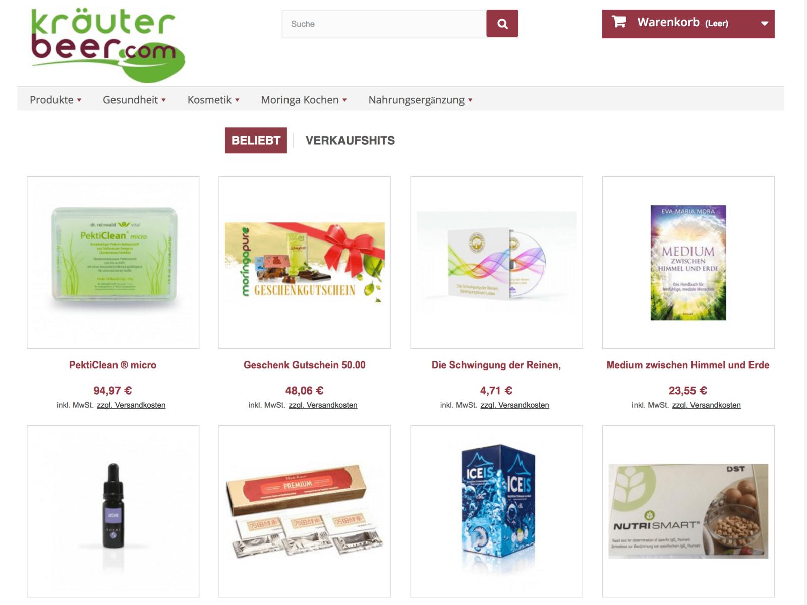 Prestashop-Weiterentwicklung und Digital Marketing Kraeterbeer