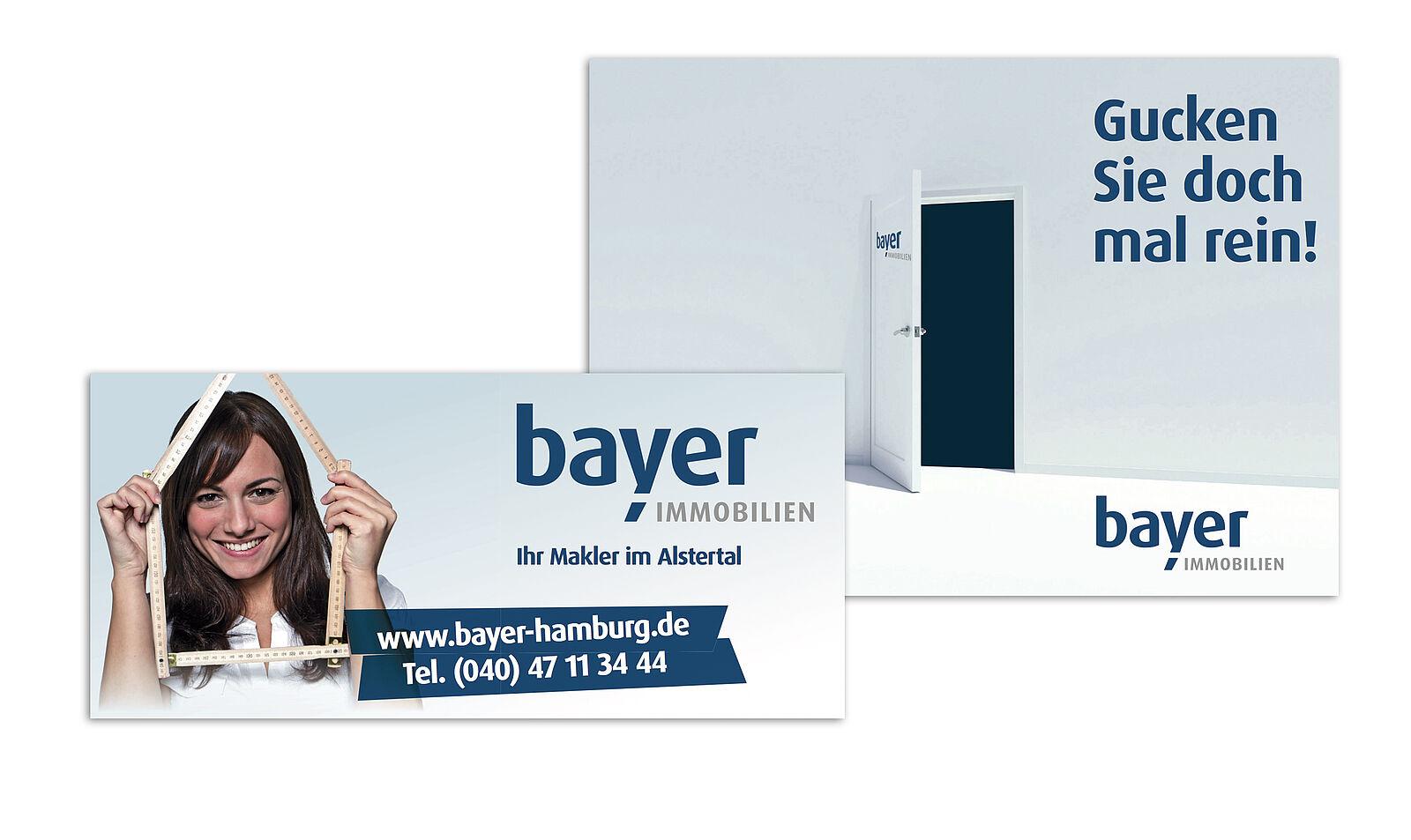 Corporate Design Bayer Immobilien-Makler