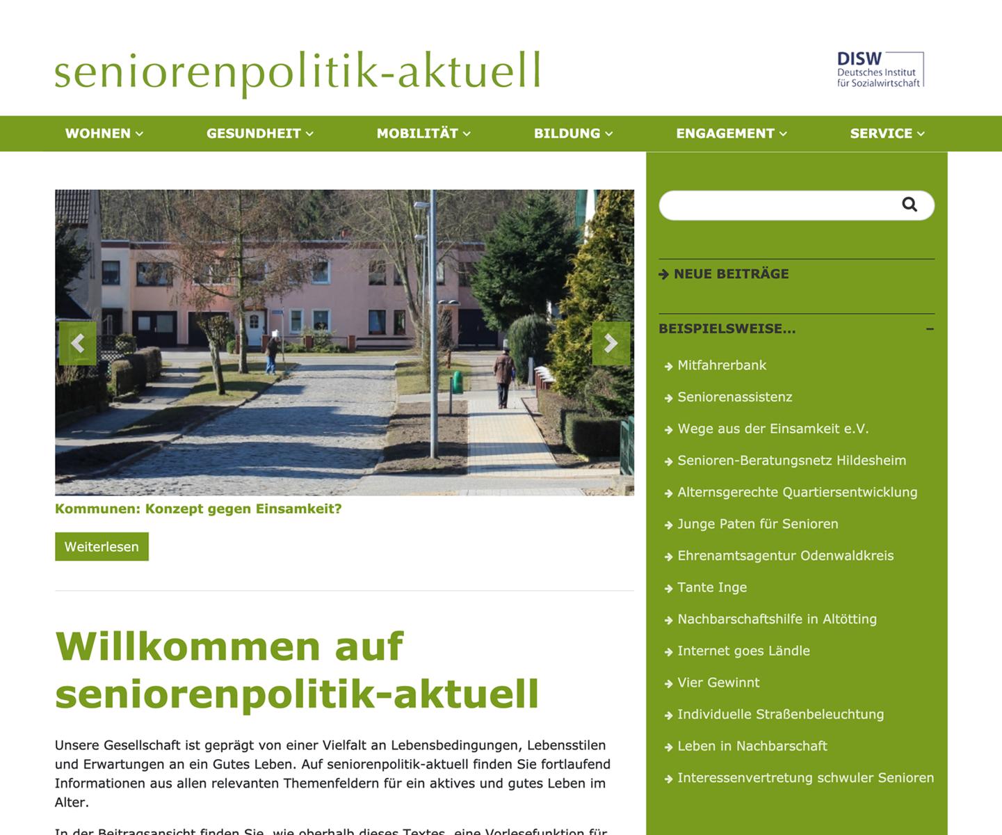 Wordpress Relaunch Seniorenpolitik-Aktuell / Land Schleswig Holstein