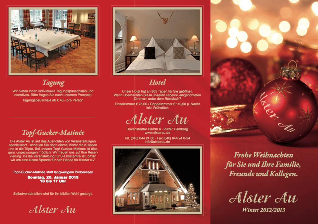 Direct Mail für Hotel & Restaurant Alster Au