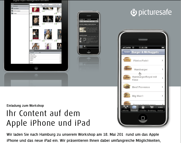 Direct Marketing/Newsletter für Picturesafe