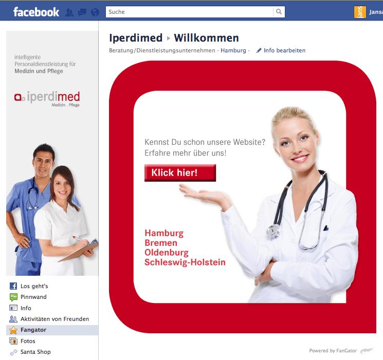iperdimed geht mit FanGator auf Facebook online