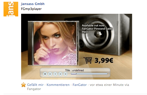 Feature-Woche bei FanGator: Facebook Video- und mp3-Player (MediaPlayer)