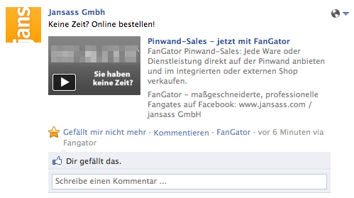 FanGator mit innovativem Feature: Pinwand-Pageflip
