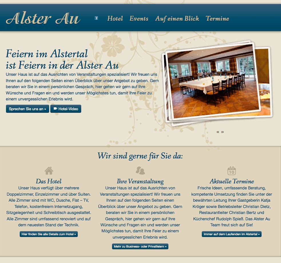 Mobile Website für Hotel Restaurant Alster Au