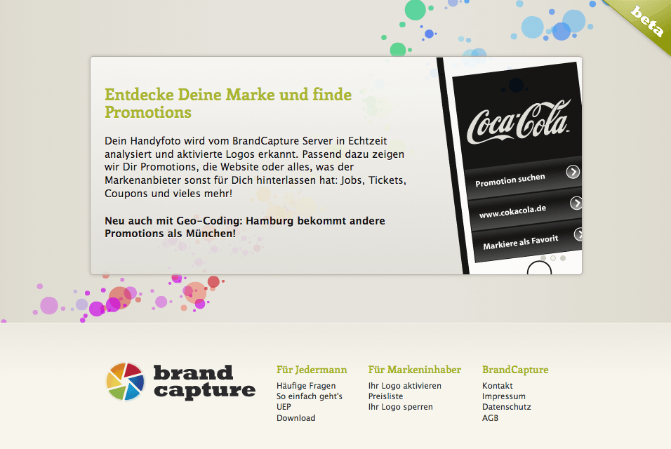 BrandCapture - Roll-Out Webdesign und Website