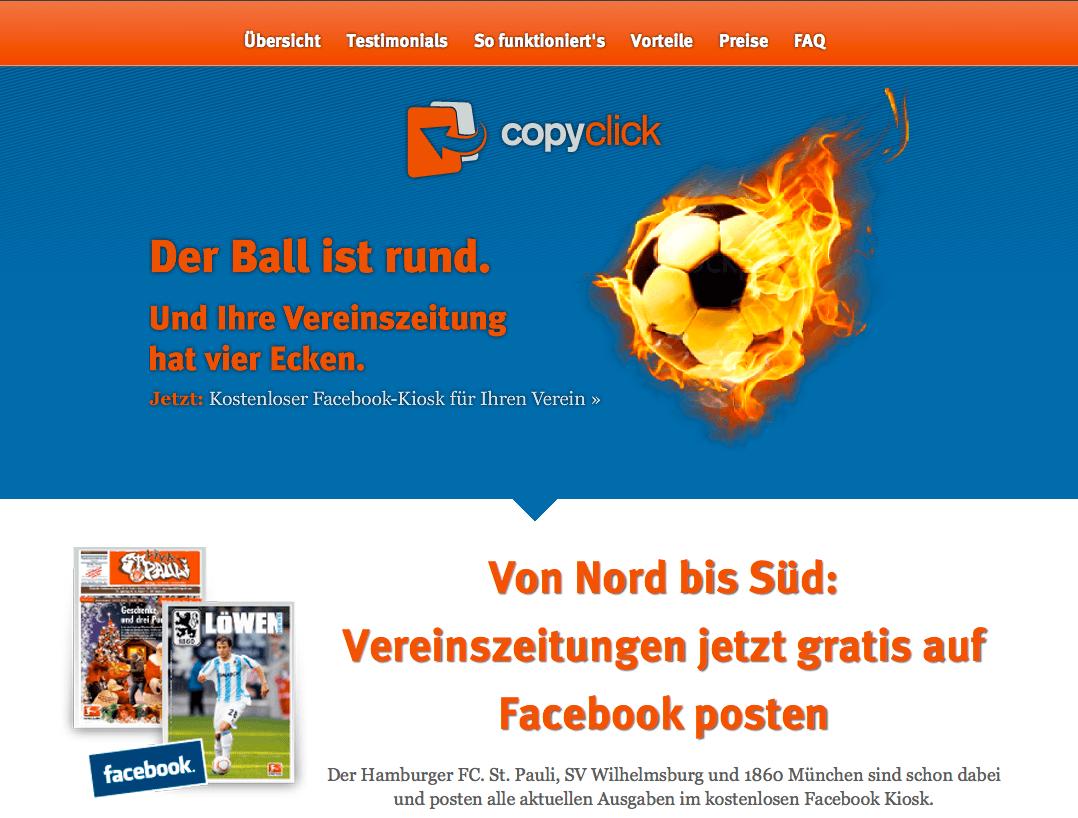 Newsletter, Landing Pages und RSS-News für CopyClick