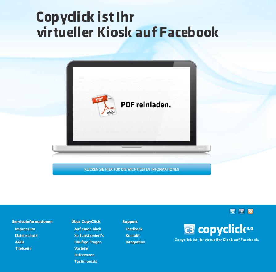 Roll-Out für CopyClick 3.0 - dem virtuellen Kiosk auf Facebook