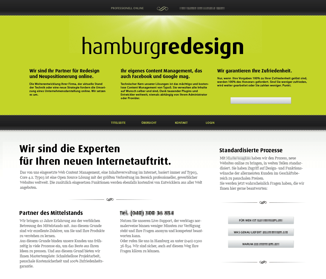 Webdesign und Marketing für Hamburg Redesign