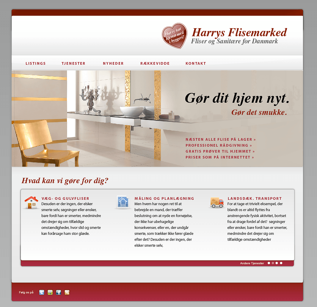 Kick-Off Marketing für Harrys Flisemarked Danmark