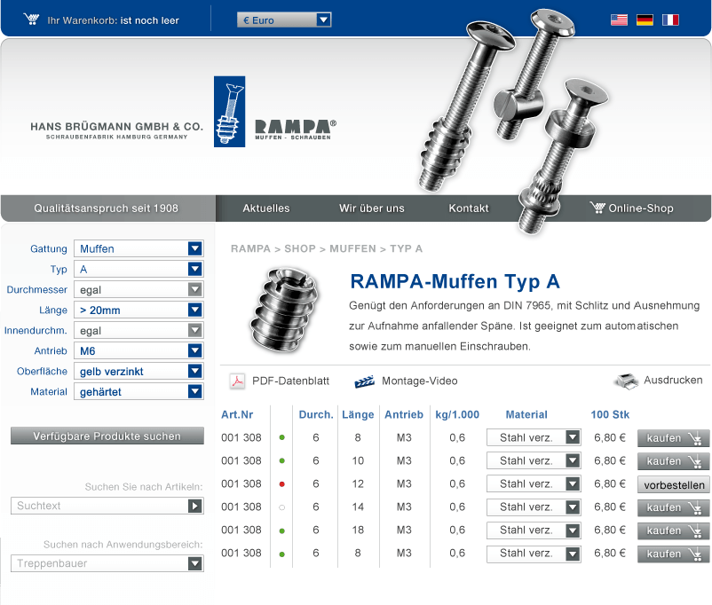 rampa.com: Corporate Website und Webshop online