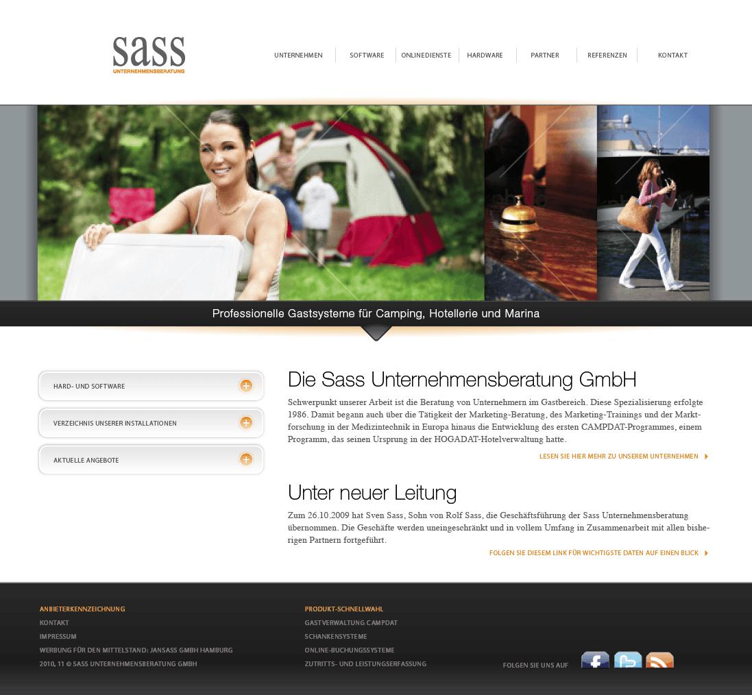Die Sass Unternehmensberatung GmbH relaunched die Website