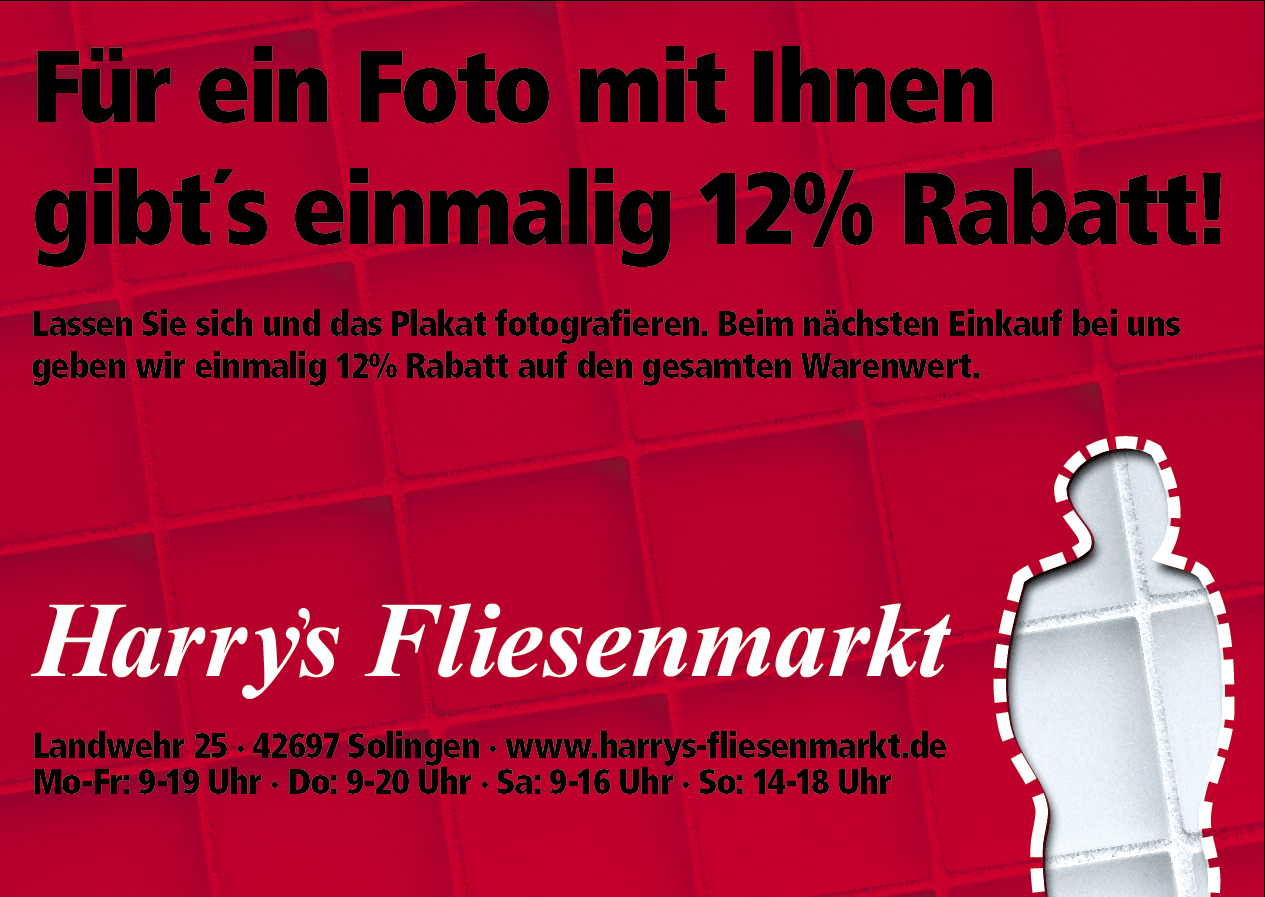 Harrys Fliesenmarkt testet erstmalig Out Of Home Werbung.