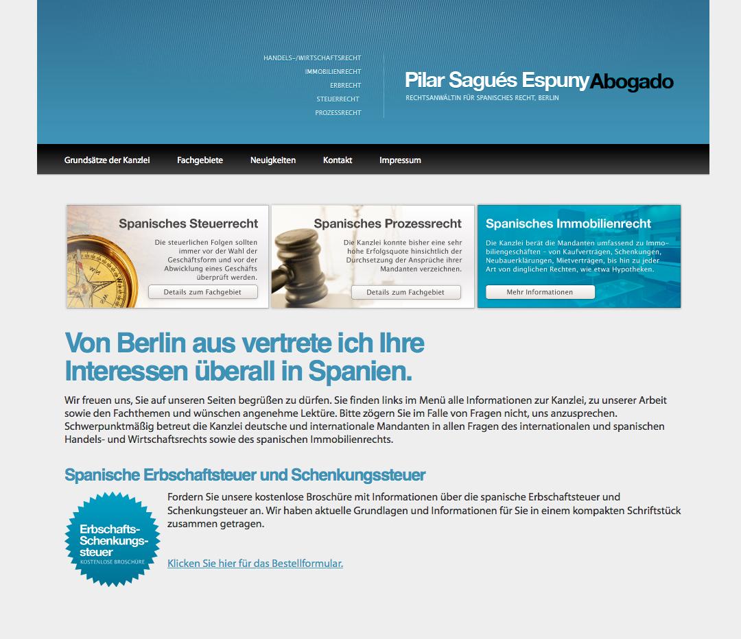 SEO, Webdesign, Social: Spanisches Recht Berlin