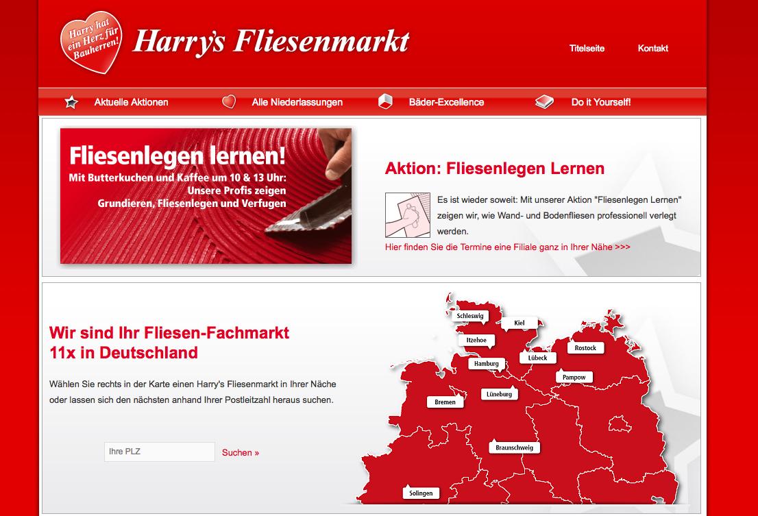 Harrys Fliesenmarkt relauncht das Webdesign mit neuem Onlineshop und ergänzt einen geschützten Kundenbereich
