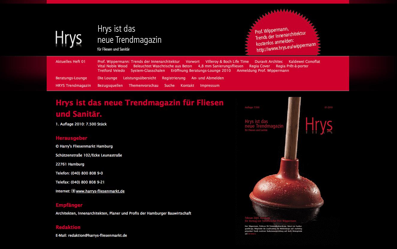 Kick-Off des Kundenmagazins HRYS