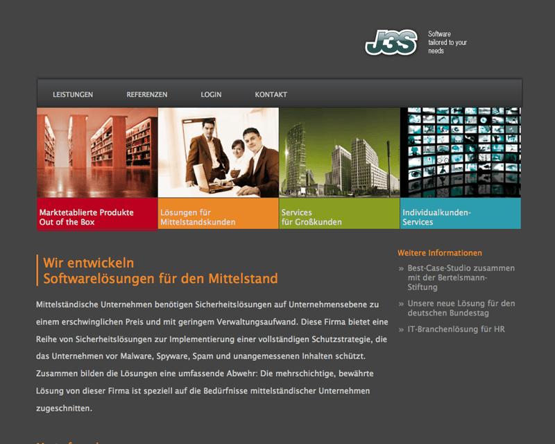 Webdesign und Corporate Design für das Hamburger Softwarehaus J3S GmbH jetzt online
