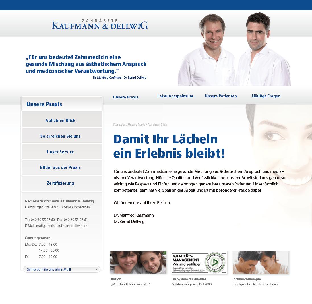 Redesign und Facelift Website Kaufmann und Dellwig