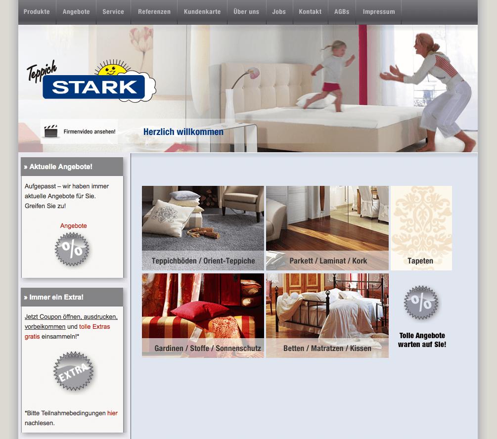 Facelift und Content Management für Teppich Stark Hamburg