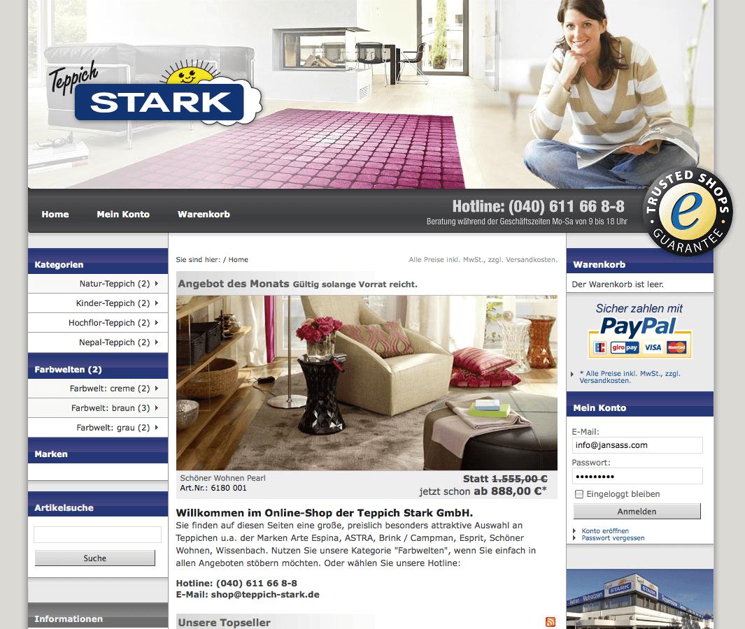 Neuer Trusted Shop: Teppich Stark Online-Fachhandel