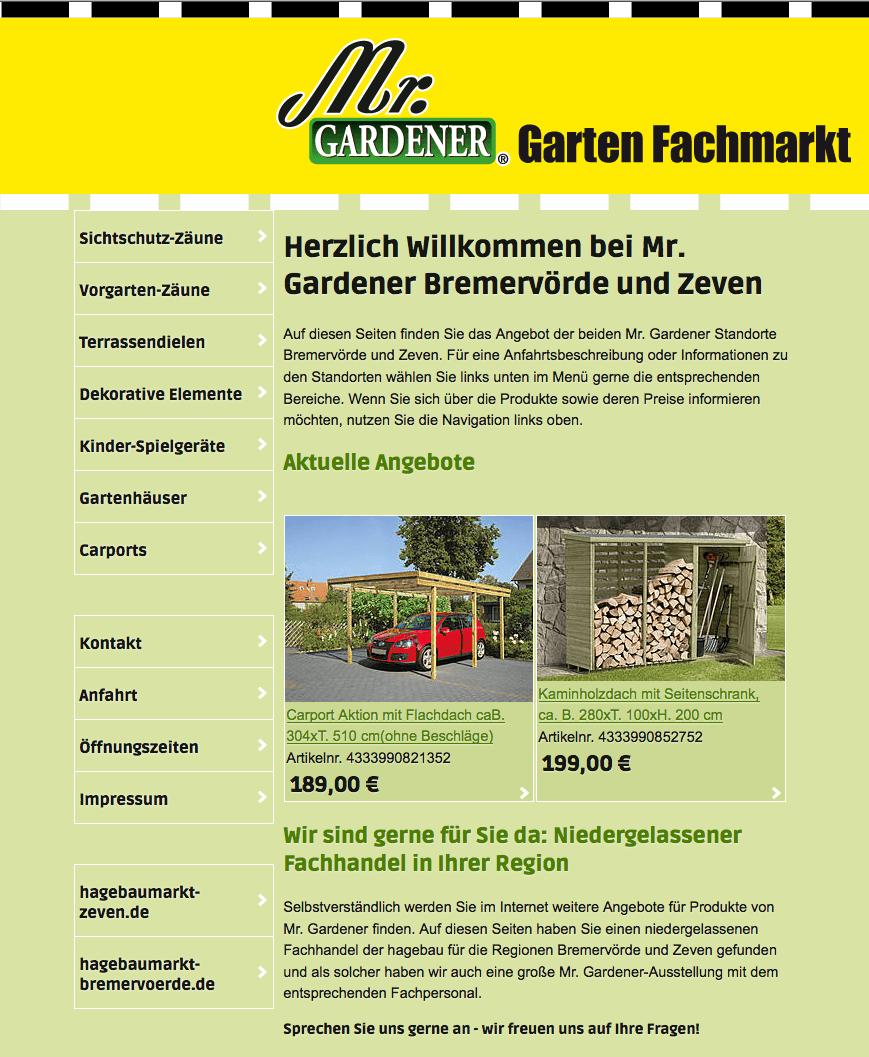 Database-Publishing und Relaunch Mr. Gardener