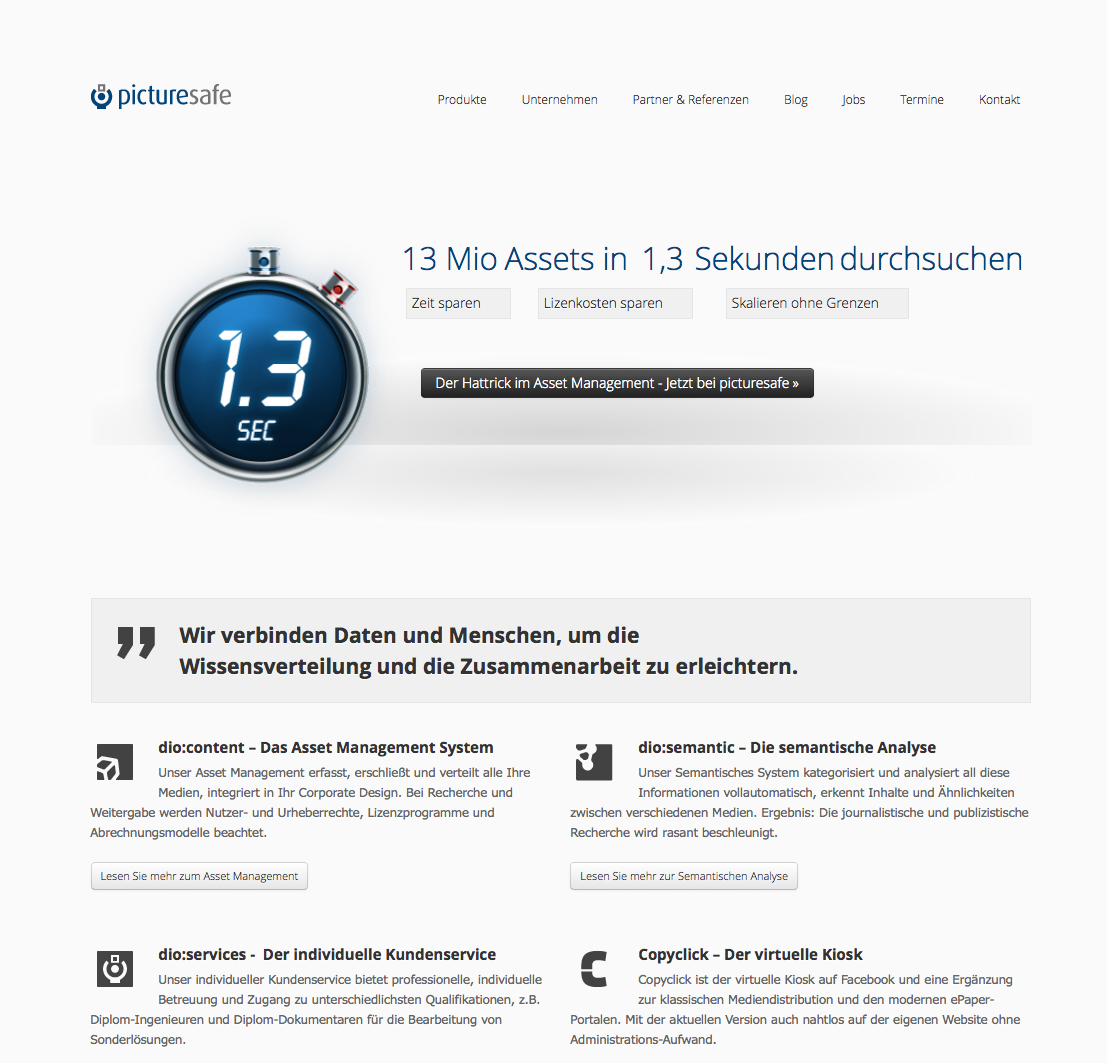 Relaunch und Restrukturierungs-Marketing picturesafe GmbH