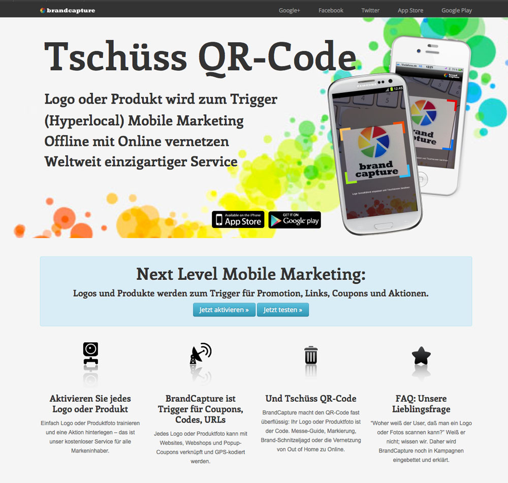 Relaunch Responsive Website auf Basis Wordpress für BrandCapture