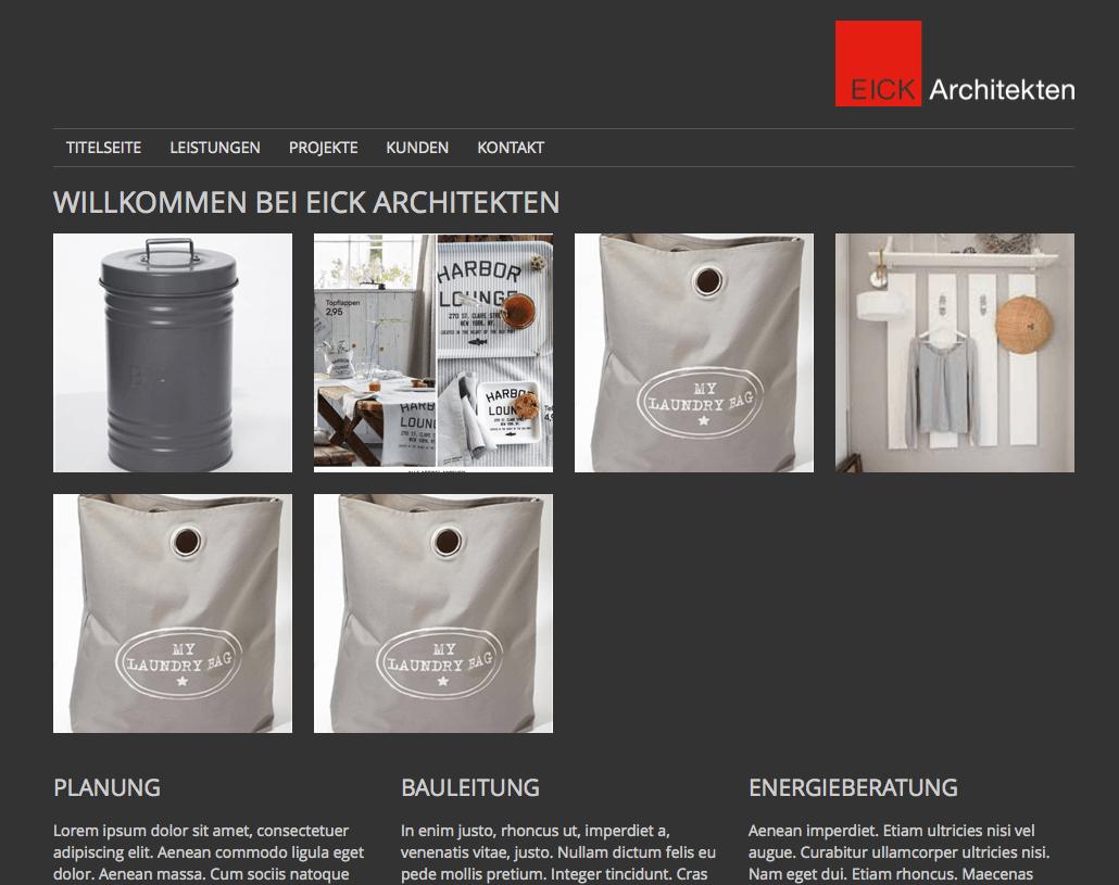 Responsive Website auf Typo3 für Eick Architekten