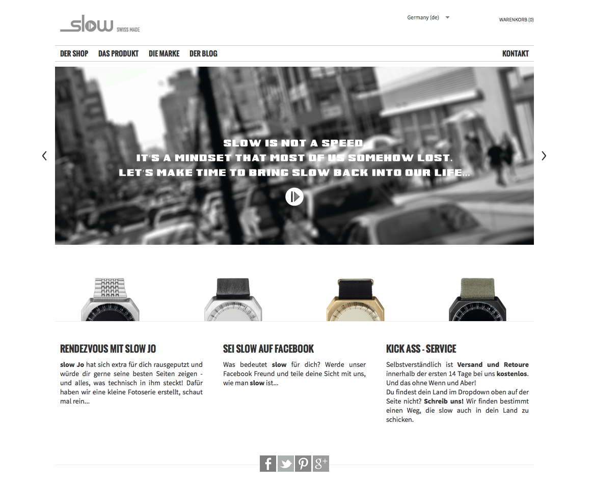 Magento Shop für slow-watches.com
