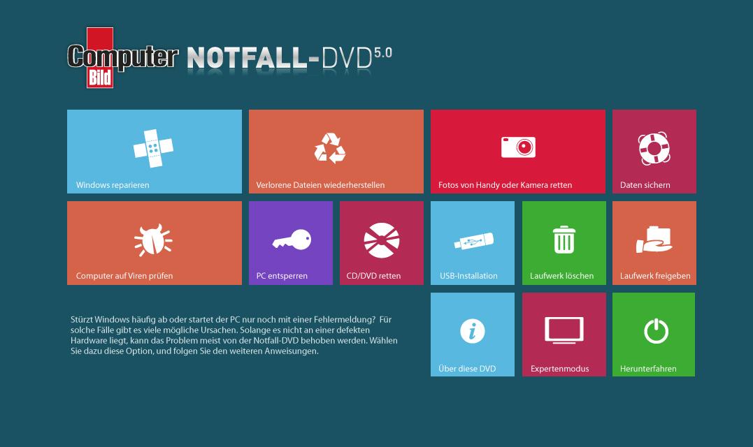 GUI ComputerBILD Notfall-DVD 5