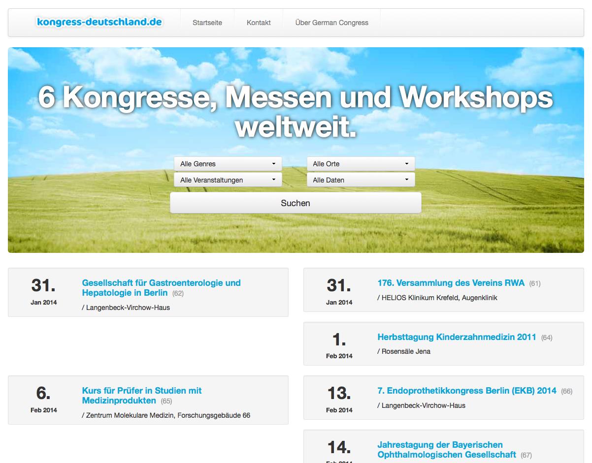 Datenbank- und Webdesign Kongress Deutschland