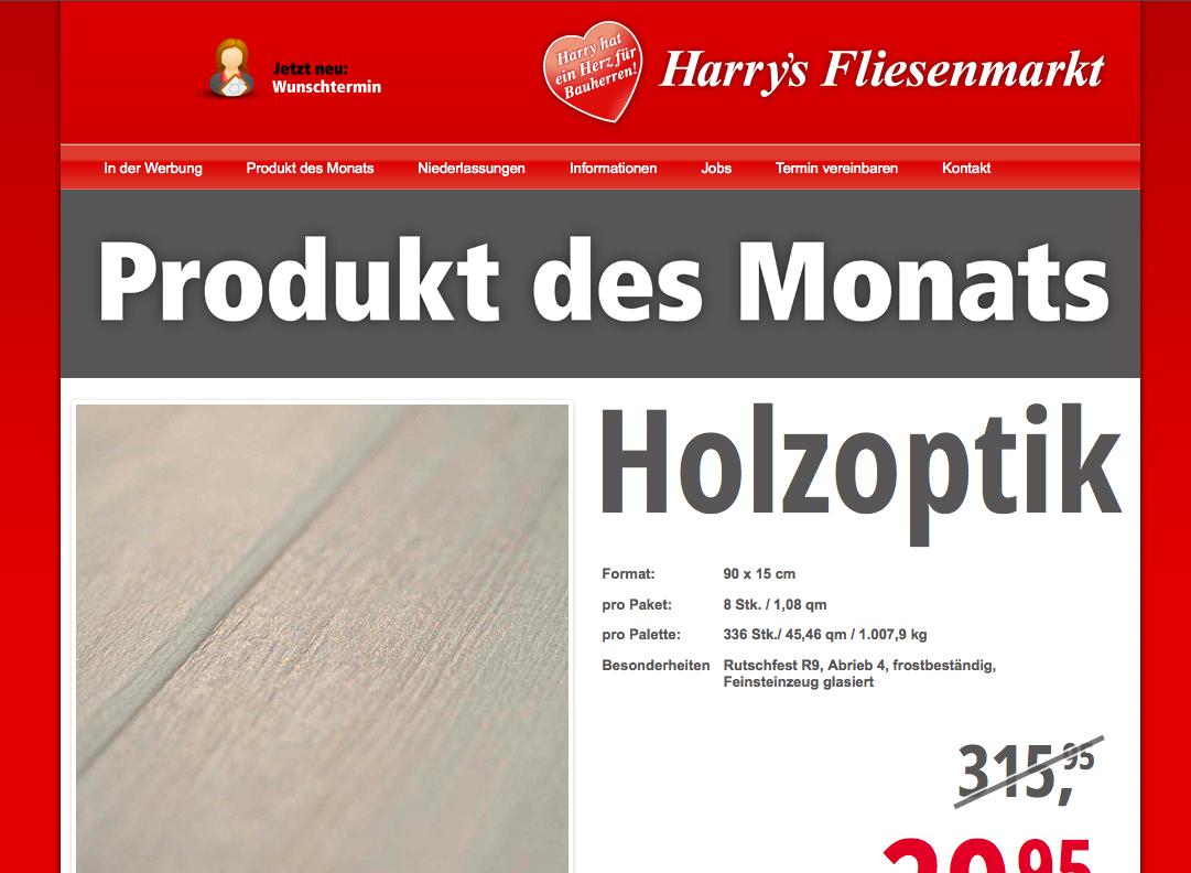Online-Handelswerbung Harrys Fliesenmarkt