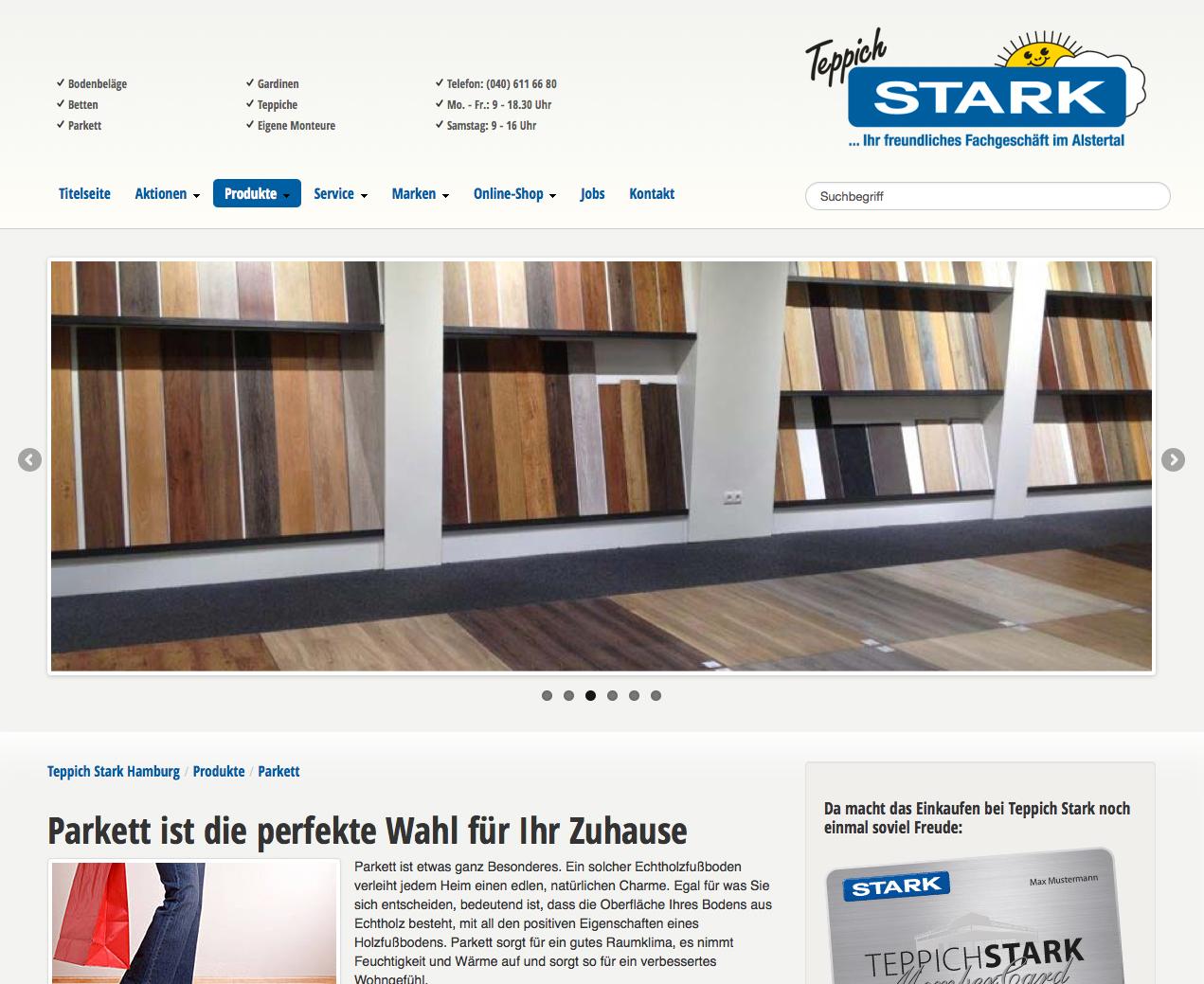 Webdesign und SEO Teppich Stark GmbH & Co KG