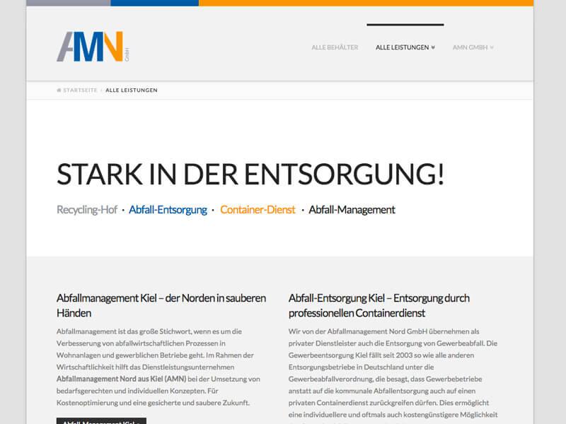 WordPress, WooCommerce Entwicklung und Design für Containerdienst Kiel