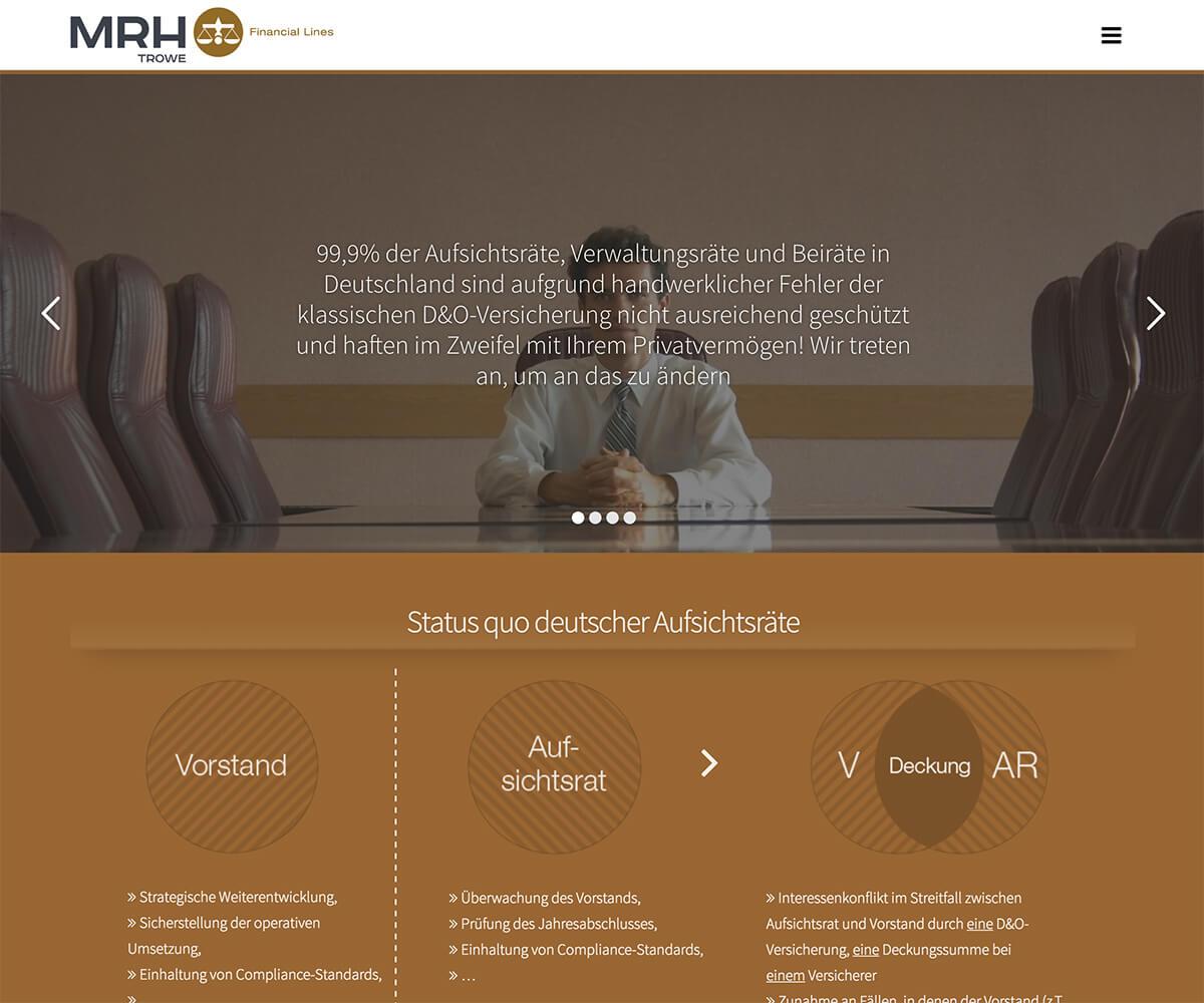 WordPress Entwicklung und Design für Aufsichtsrat-Absicherung