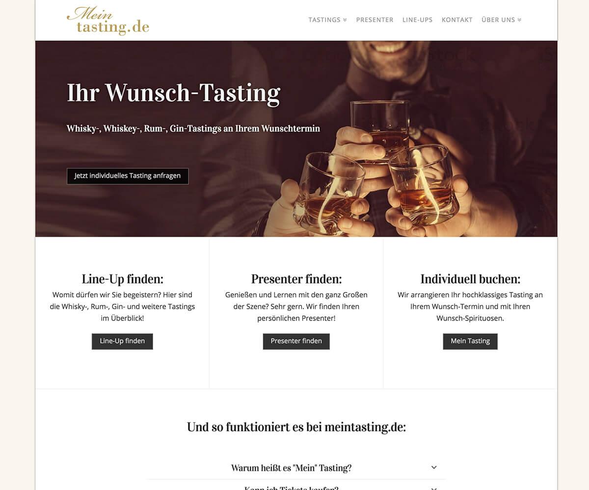 WordPress Entwicklung und Design für Mein-Tasting