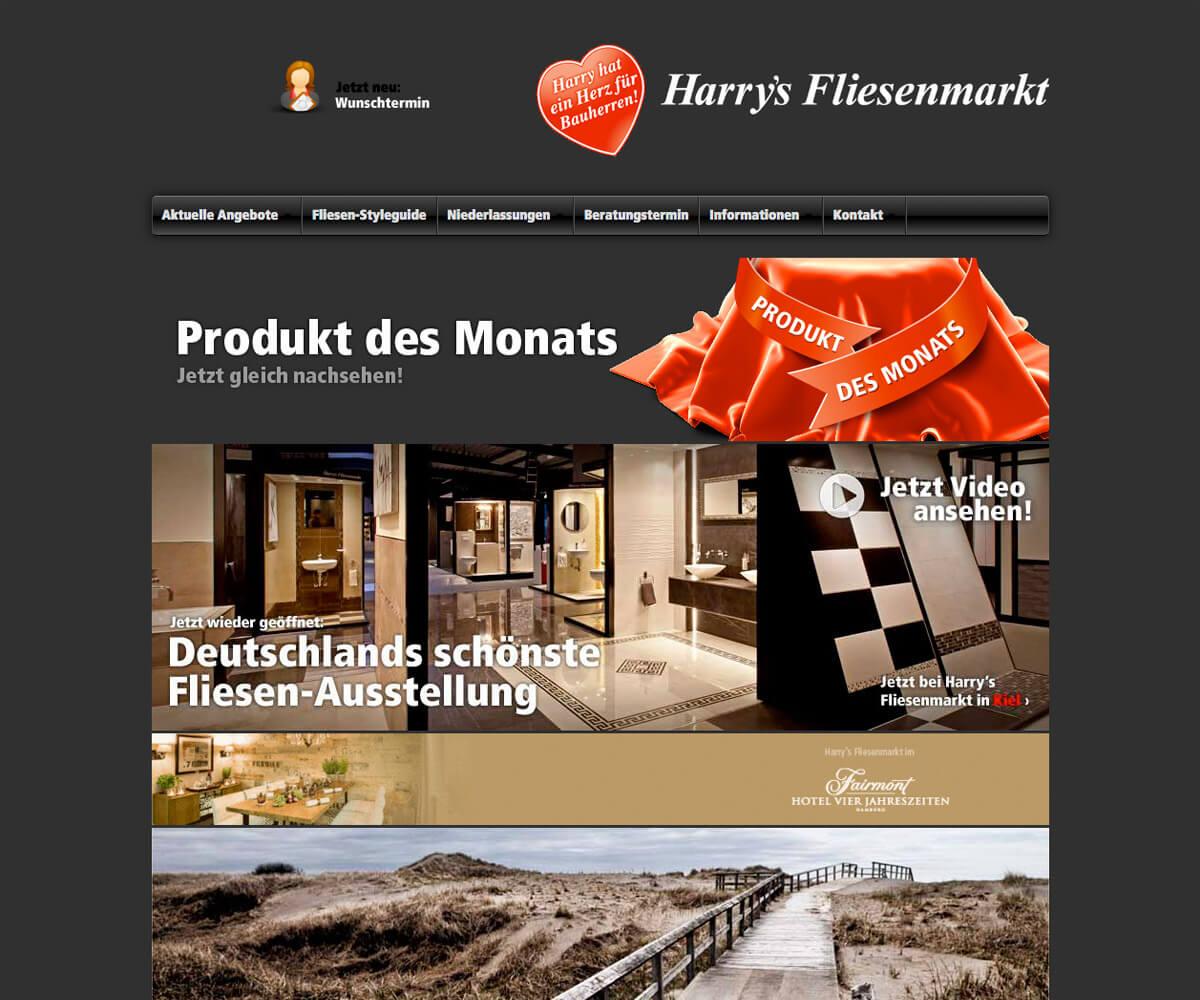 Typo3 Entwicklung und Design für Harrys Fliesenmarkt