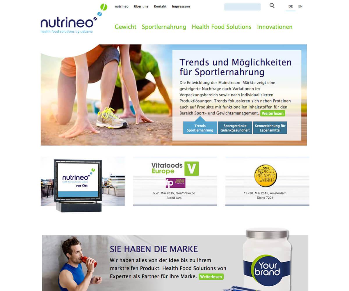 Typo3 Entwicklung und Design für Nutrineo
