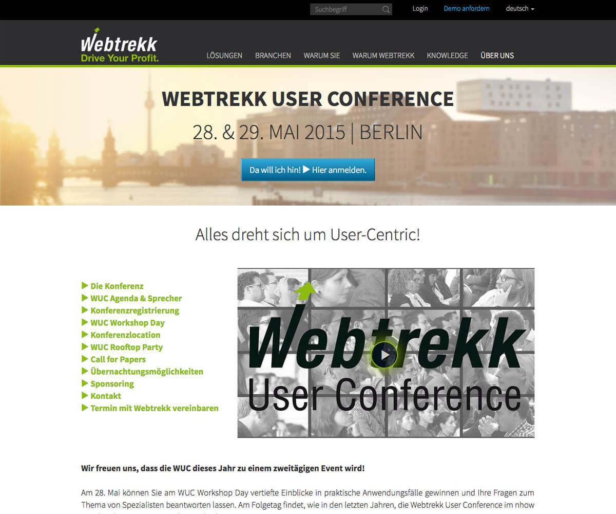 Typo3 Entwicklung und Design für Webtrekk